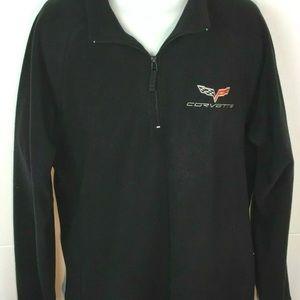 Clinique Jackets & Coats - Corvette Logo Fleece Jacket 1/4 Zip Black XXL